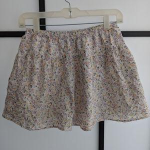Floral-Patterned Summer Skirt in